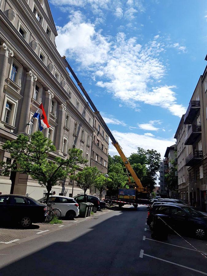 Uklanjanje dimnjaka nakon potresa u Zagrebu
